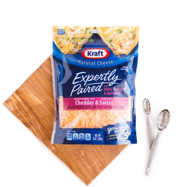 KRAFT Expertly Paired Shredded Cheese for Eggs Omelets Quiche