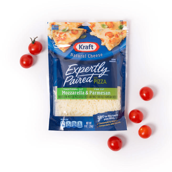 KRAFT Expertly Paired Shredded Cheese for PIzza